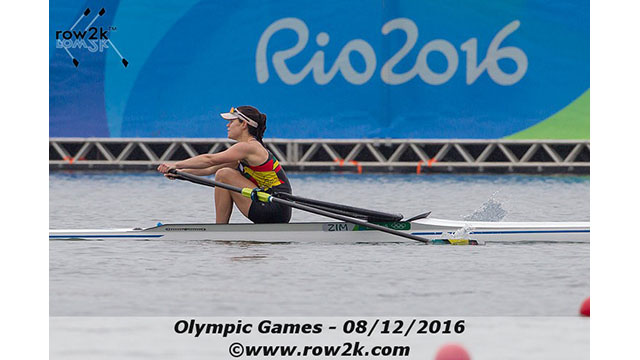 Zimbabwe's Thornycroft competing at the Rio Olympics in 2016
