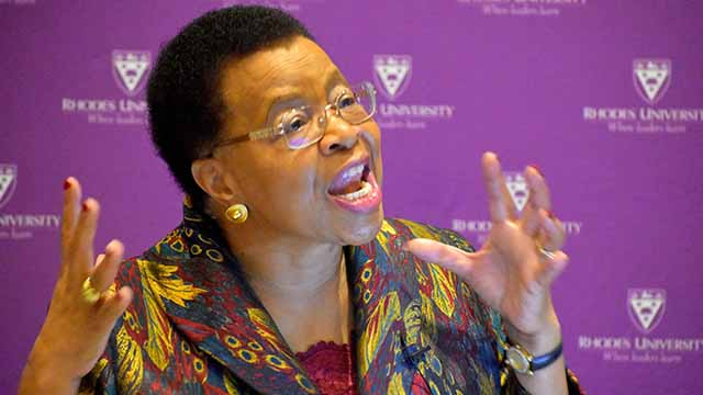 Mrs Graca Machel at the Archbishop Thabo Makgoba Development Trust Lecture