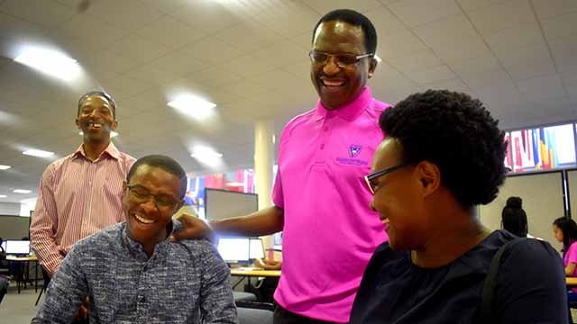 Rhodes University Vice - Chancellor, Dr Sizwe Mabizela welcoming new students