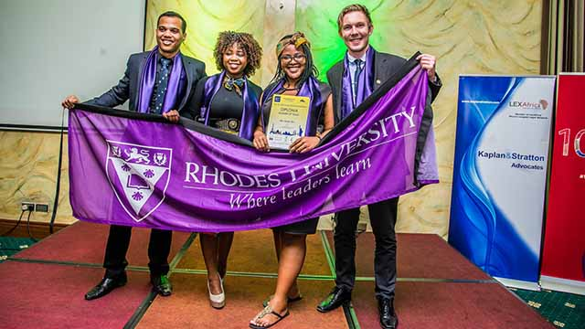 Rhodes wins second place at International Trade Law Moot in Kenya