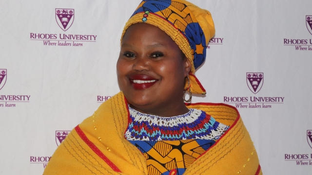 Sindi Dingana at 2018 RUCE Awards