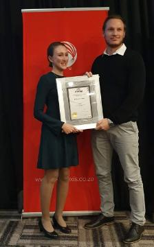 Katherine James at the IITPSA award ceremony
