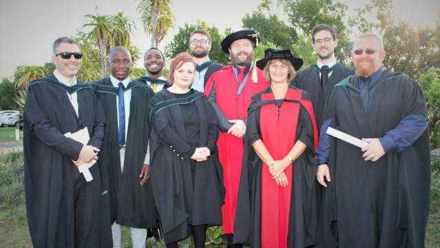 Some of the Masters & PhD students who graduated, with their supervisors