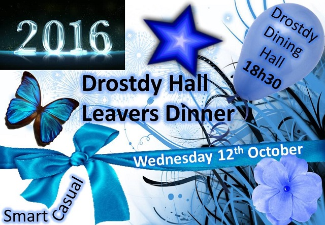 Activities - Leavers Dinner Poster