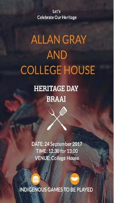 AG Braai with College Poster
