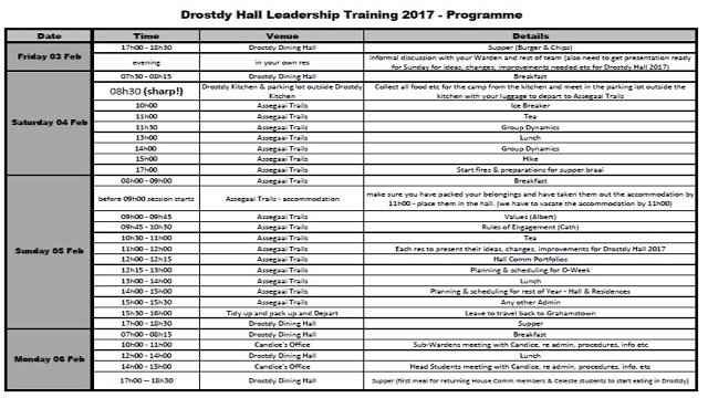Beginning Year Leadership Training Programme
