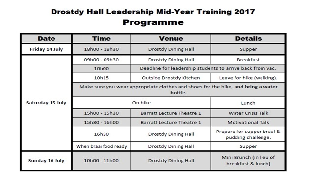 Mid-Year Leadership Training Programme