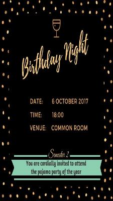 PA 2nd semester Birthdays Night Poster
