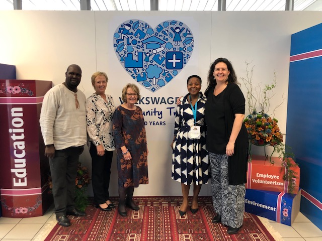 Photo (left to right):  Mr Thuso Moss (CSD coordinator), Professor Di Wilmot (Dean of the Education Faculty); Ms Sarah Murray (Funda Wanda and Advanced Certificate coordinator); Ms Nonkqubela Maliza (Director: VW CSI) and Ms Nicci Hayes (Acting Director: CSD).