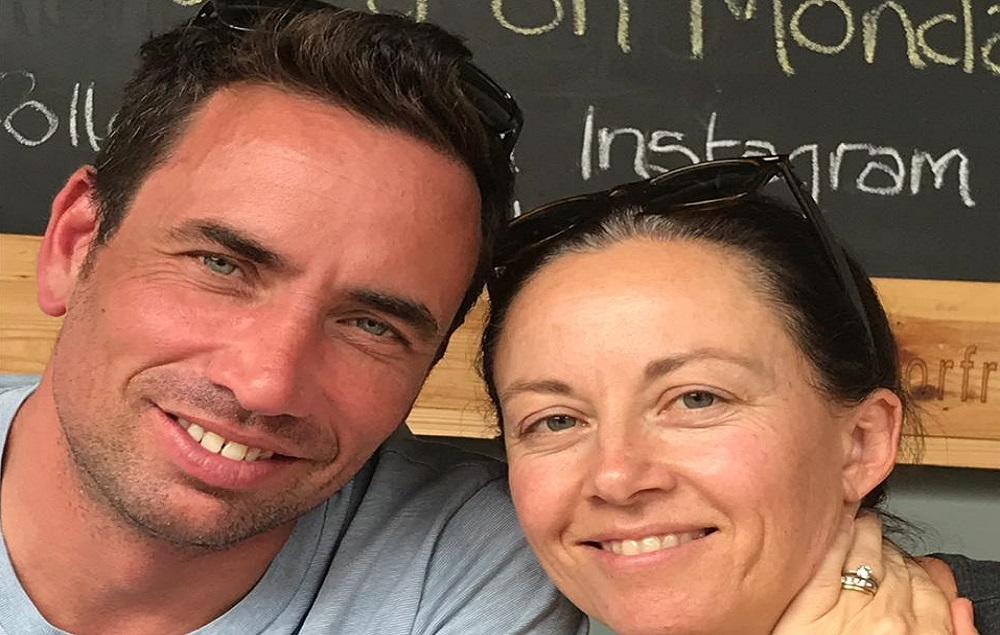 Rhodes JMS alumnus Matthew Buckland with his wife, Bridget. Image supplied