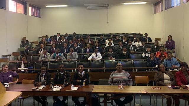 High School students attending Open Day