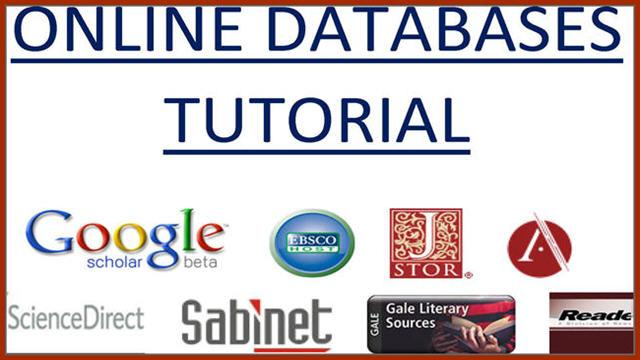 Online Databases Tutorial