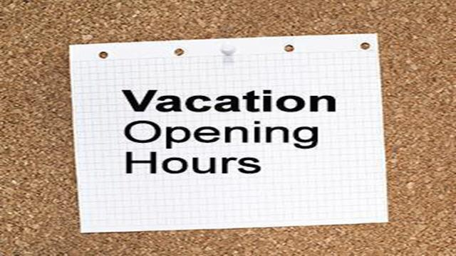Vacation Time Hours