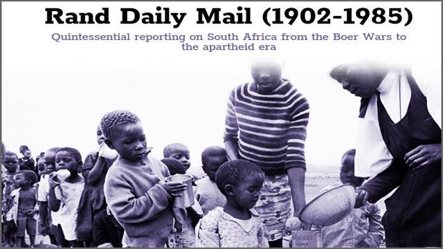 Rand Daily Mail Archive (1902-1985)