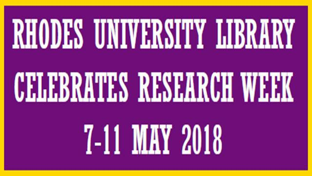 RU Library Research Week 7-11 May 2018