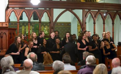 RUCC performs at Holy Trinity, Kalk Bay, on Thursday, 13 September 2012