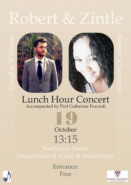 Robert and Zintle Lunch Hour Poster