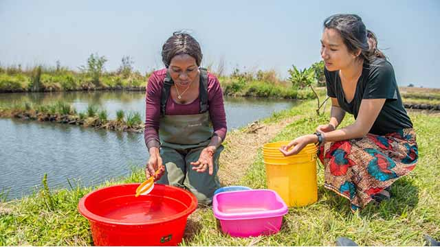 Water researchers (like Dr Mary Lundeba and Esther Lee, pictured here at work in Zambia) need more s