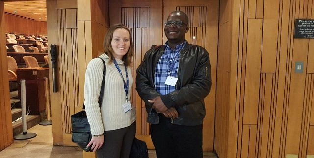 Ms Logan Mclaren with Professor Sabelo Ndlovu Gatsheni photo - supplied