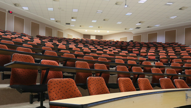 Rhodes University lecture hall