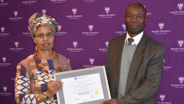 Picture from last year's Rhodes University Community Engagement (RUCE) Awards