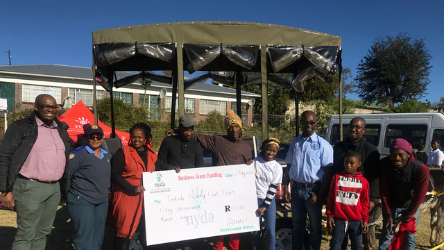 Imbali Donkey Tour beneficiaries receive NYDA grant