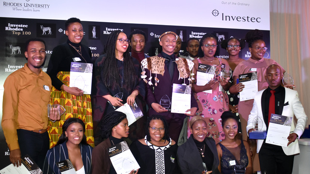 Some of the Investec Rhodes Top 100 winners