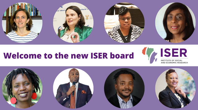 The newly appointed ISER Board members.