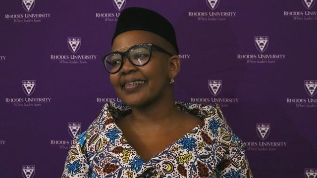 Dr Siphokazi Magadla at her Vice-Chancellor's 2018 Teaching Award Lecture