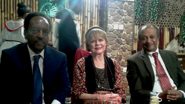 Prof Asafa Jalata, a Director of the Board of the OSA, Dr Sandy Shell, Senior Research Associate and Prof Asfaw Beyene, Chair of the Board of Directors of the OSA