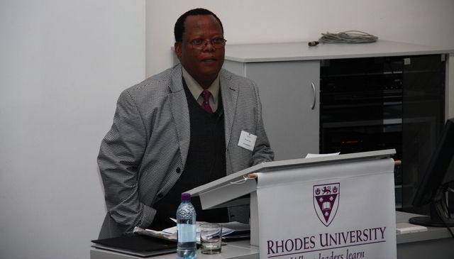 Former staff member in the Faculty of Law, Professor Emeritus Richman Mqeke.