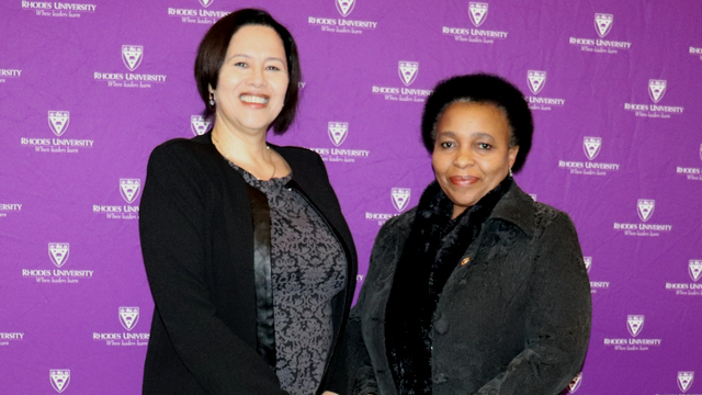 Dr Moodly, Registrar & Dr Monnapula-Mapesela, DVC: Academic & Student Affairs
