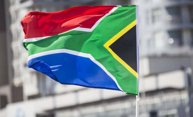 South African flag showing unity in diversity.