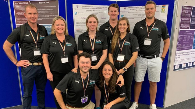 Cricket research group from Rhodes University's HKE in England
