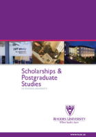 Scholarships and Postgraduate Publication 2014