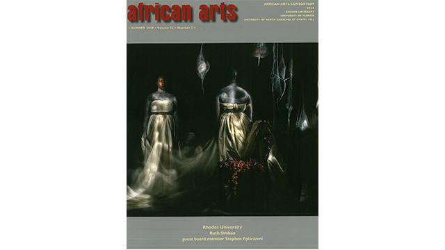 African Arts 3rd Issue by the Rhodes Editorial Consortium Board