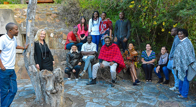 Members of the 2018 Arts of Africa and Global Souths research team. Photo by team member Stary Mwaba