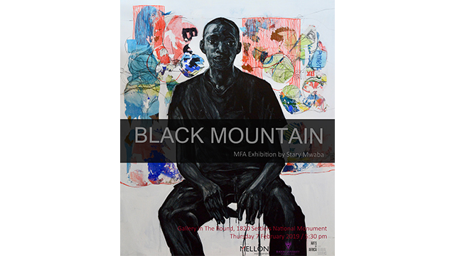 """Black Mountain"" exhibition by Stary Mwaba"