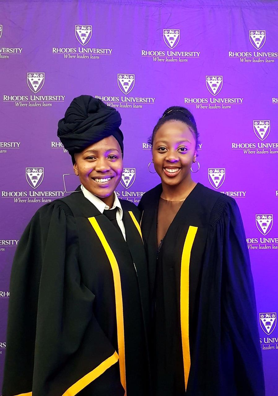 2021 SRC President-elect Leboghang Nkambule, received a warm welcome to the SRC institution from outgoing president Katlego Mphahlele. Image/ Masithembe Sazana.