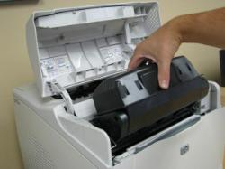 How to fit a toner cartridge