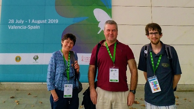 Prof Caroline Knox, Dr Sean Moore and Dr Michael Jukes in Valencia, Spain